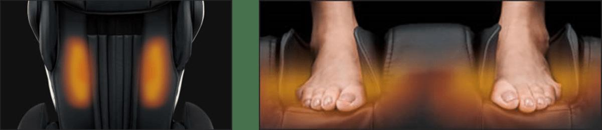 hệ thống massage nhiệt ghế massage nhật bản Fujiiryoki JP1100