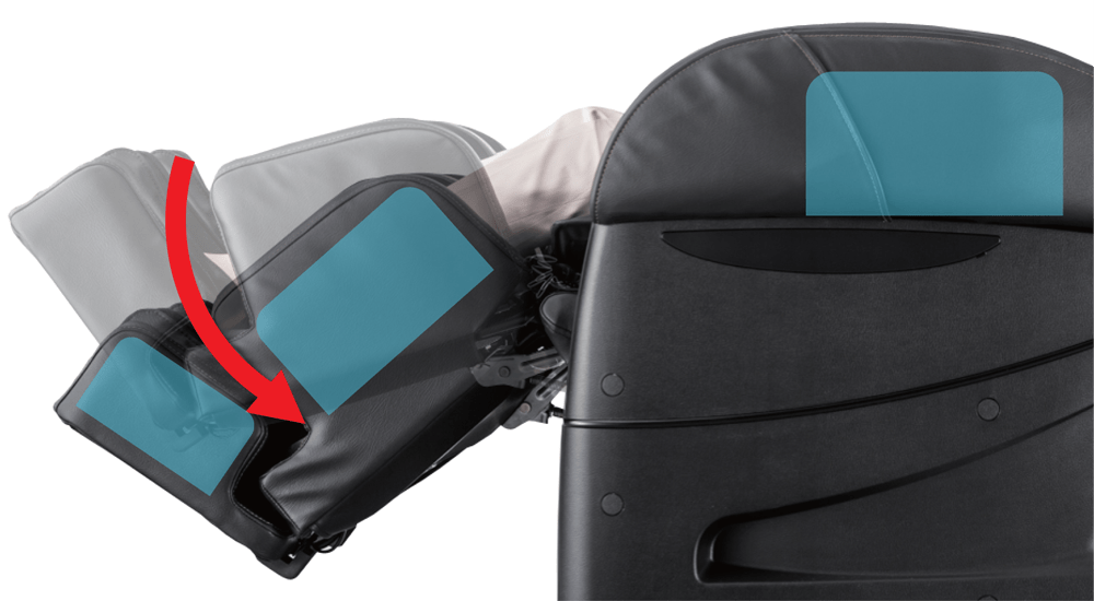 kéo giãn massage vùng chân GHẾ MASSAGE TOÀN THÂN NHẬT BẢN FUJIIRYOKI EC3900