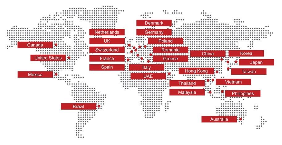 Hệ thống cửa hàng Johnson Fitness trên toàn cầu